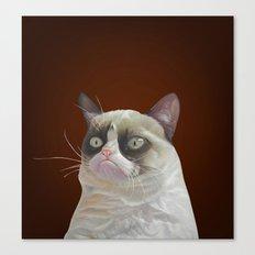 Grumpy-Chocolate Canvas Print