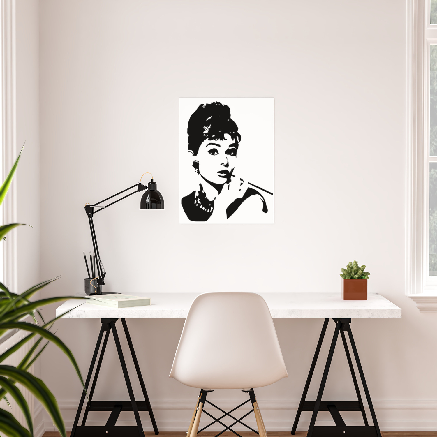 Portrait Of Audrey The 1960 S Fashion Icon And Movie Star Poster