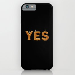 Romantic YES to engagement, wedding or date! iPhone Case