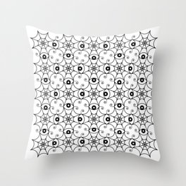 Webbing Day Throw Pillow