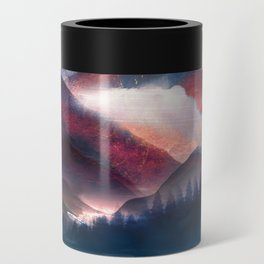Mountain Lake Under the Stars Can Cooler