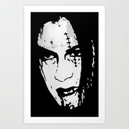 Bloody Scar Face - Cool Horror Grungy T-Shirt Design Art Print