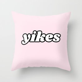 yikes V Throw Pillow