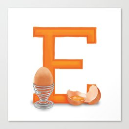 E is for Egg Canvas Print