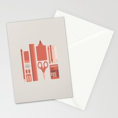 School House Monotone Stationery Cards