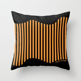 Etoide Jingga Orange Black Stripes Throw Pillow
