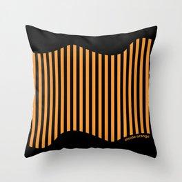 Etoide Jingga Orange Black Stripes Throw Pillow