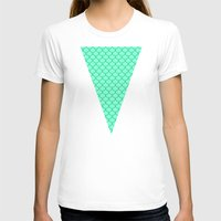 scales T-shirts featuring Mermaid Scales by Sam Cabading