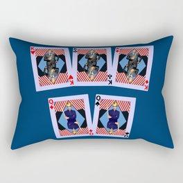 Full House of Cards Rectangular Pillow