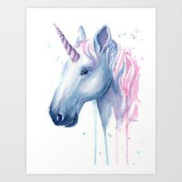 Cotton Candy Unicorn Art Print