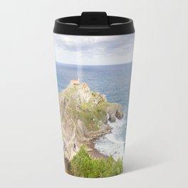 San Juan de Gaztelugatxe landscape Travel Mug