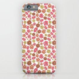 Mini Retro Flora iPhone Case