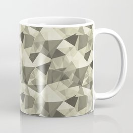 Abstract Geometrical Triangle Patterns 4 Natural Olive Green - Martinique Dawn - Asian Silk Coffee Mug