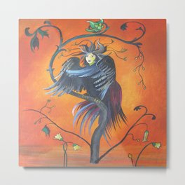 Gamaun The Prophetic Bird With Ruffled Feathers Metal Print