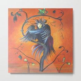 Gamaun The Prophetic Bird With Ruffled Feathers Metal Print