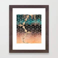Ombre Dream Cubes Framed Art Print