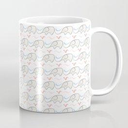 Watercolor Baby Elephant Herd Coffee Mug