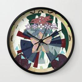 Leech & Flower Wall Clock