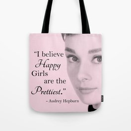 Happy Girls - Pink - With Audrey Tote Bag