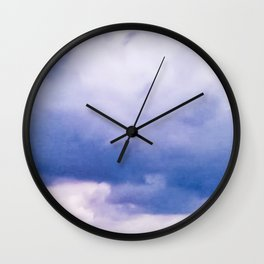 BEFORE THE STORM: BLUE CLOUDS Wall Clock