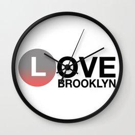 Love BROOKLYN Wall Clock