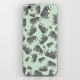 Adorable Badger ( Meles meles ) iPhone Skin