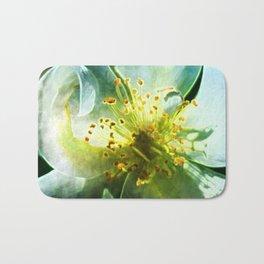 Yellow Rose Center with smokey overlay by CheyAnne Sexton Bath Mat