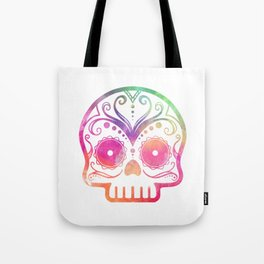 "Custom Design Modern Sugar Skull (""Calavera"") Tote Bag"