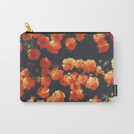 Orange Poppy Blooms Carry-All Pouch