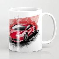 lamborghini Mugs featuring Lamborghini Huracan LP610-4 by an.artwrok