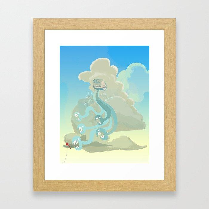 The Wind Has Teeth Framed Art Print