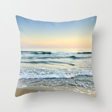 Serenity sea. Vintage Throw Pillow