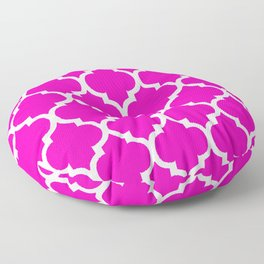 MOROCCAN PINK AND WHITE PATTERN Floor Pillow
