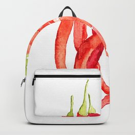 Watercolor Chilies Backpack