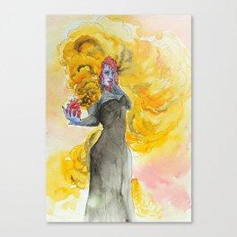Orange magic witch Canvas Print