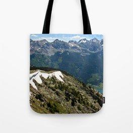 Mountain cornice with snow Tote Bag