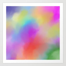 Modern abstract bold colors watercolor pattern Art Print