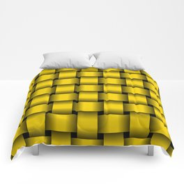 Large Gold Yellow Weave Comforters
