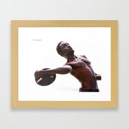 The disc launcher Framed Art Print