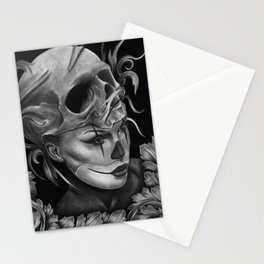 Skull/Woman Stationery Cards