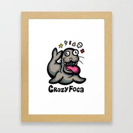 Crazy Foca Framed Art Print