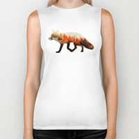 andreas preis Biker Tanks featuring Norwegian Woods: The Fox by Andreas Lie