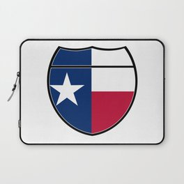 Texas Flag In An Interstate Sign Laptop Sleeve