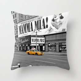 NYC - Yellow Cabs - Musical Throw Pillow