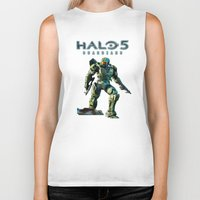 halo Biker Tanks featuring Halo 5 by ezmaya