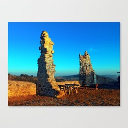 Taking a rest at the ruin | architecture photography Canvas Print