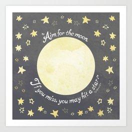 Aim for the Moon Art Print