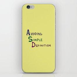 ASD Acronym iPhone Skin