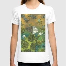 The Beekeeper White Womens Fitted Tee X-LARGE