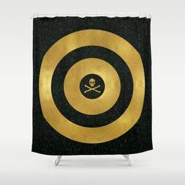 Gold Leaf Target Shower Curtain